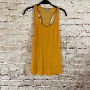 Mustard racer back active tank top size XS